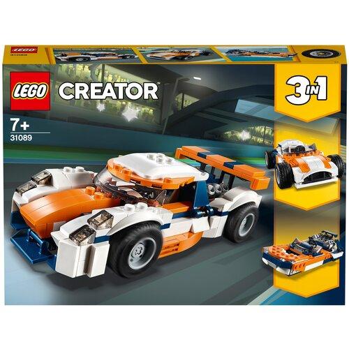 lego creator исследовательский планетоход 31107 Конструктор LEGO Creator 31089 Оранжевый гоночный автомобиль