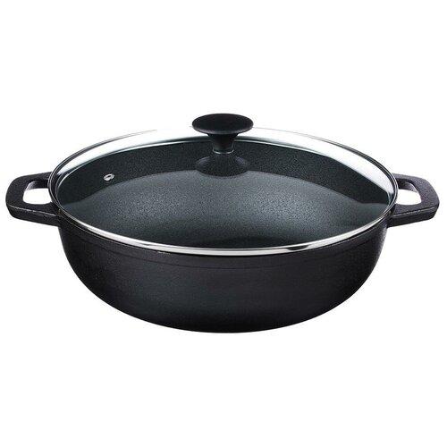 Сковорода-вок Vetta 808-009, 30 см, с крышкой, черный недорого