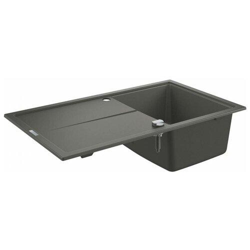 Врезная кухонная мойка 86 см Grohe K400 31640AT0 серый гранит врезная кухонная мойка 87 3 см grohe k400 31568sd0 нержавеющая сталь