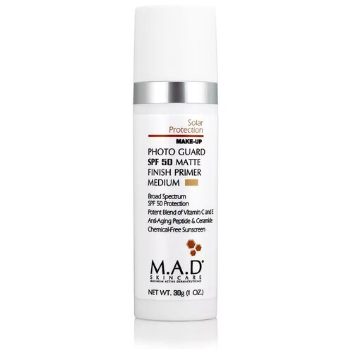 M.A.D Skincare Матирующий крем-праймер Photo Guard SPF 50 Matte Finish Primer 30 г medium