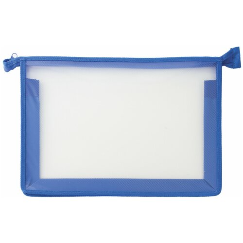 Пифагор Пифагор Папка для тетрадей А4, молния сверху, прозрачная синий недорого