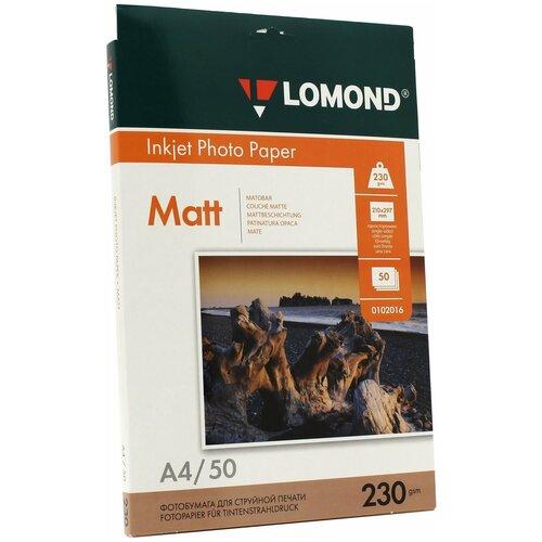 Фото - Бумага Lomond A4 Photo Paper 0102016 230 г/м² 50 лист., белый бумага lomond a4 photo paper 0102003 120 г м² 100 лист белый