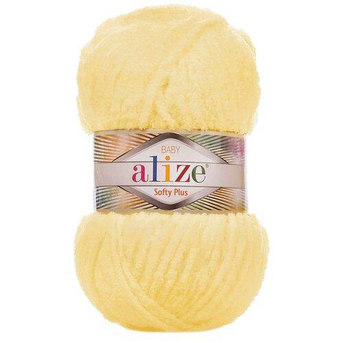 Купить Пряжа для вязания Ализе Softy Plus (100% микрополиэстер) 5х100г/120м цв.013 желтый, Alize