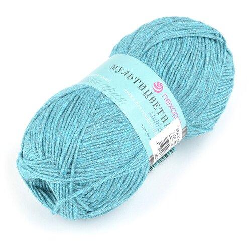 Купить Пряжа для вязания ПЕХ Мультицветная (65% полиэстер, 35% хлопок) 5х50г/180м цв.1152 зелёная бирюза, Пехорка