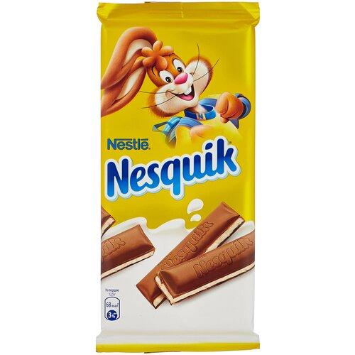 шоколад алёнка молочный порционный с молочной начинкой 100 г Шоколад Nesquik молочный с молочной начинкой, 100 г