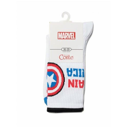 Носки Conte Elegant Marvel 19С-116СПМ 176 белый, размер 23-25, белый