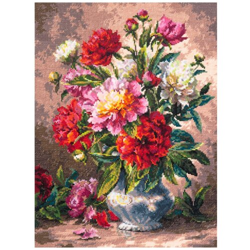 Чудесная Игла набор для вышивания 040-69 Пионы 28 х 35 см чудесная игла набор для вышивания пионы для умелицы 25 х 25 см 100 124