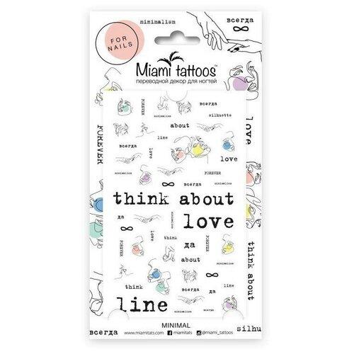 Слайдер дизайн Miami tattoos Minimal разноцветный