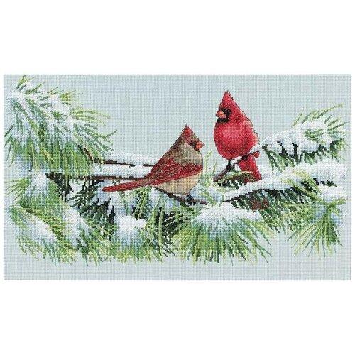 Фото - Dimensions Набор для вышивания Зимние кардиналы 23 x 38 см (35178) набор для вышивания dimensions 03896 уютное укрытие46 x 23 см