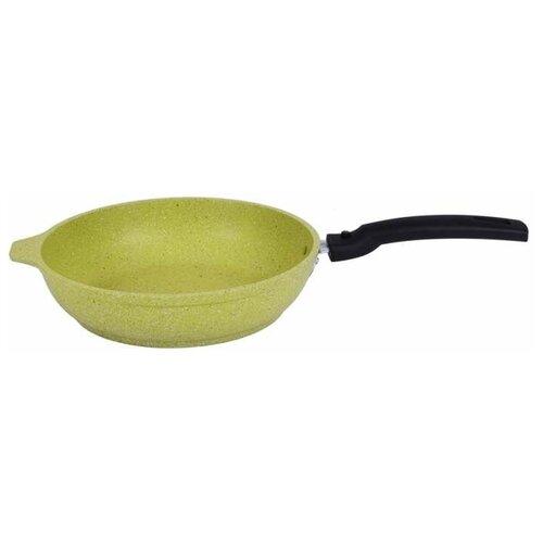 Сковорода Kukmara Trendy Style 221, 22 см, съемная ручка, lime сковорода d 24 см kukmara кофейный мрамор смки240а