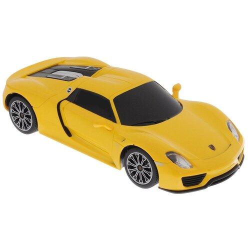Купить Легковой автомобиль Rastar Porsche 918 Spyder (71400) 1:24 20 см желтый, Радиоуправляемые игрушки