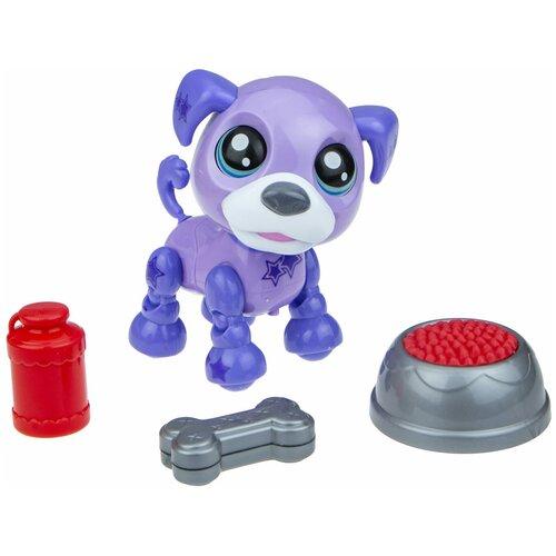 Фото - Робот 1 TOY Robo Pets Озорной щенок Т16939 фиолетовый робот 1 toy robo pets котёнок белый голубой