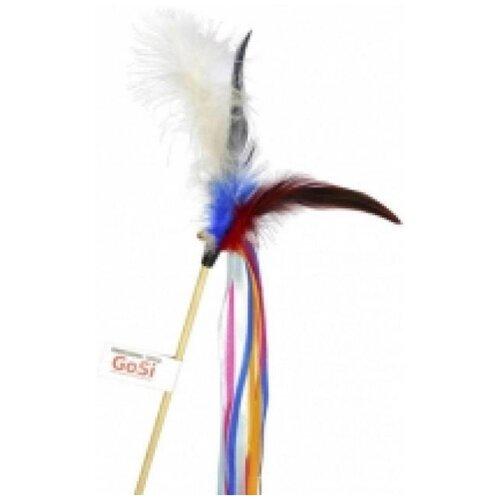 Gosi 07055 игрушка для кошек махалка лента и перо, 82283 (2 шт)