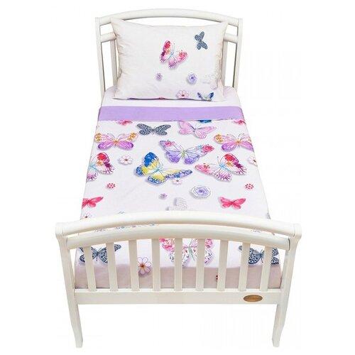 Постельное белье 1.5-спальное Giovanni Butterfly, бязь, 50 х 70 см, белый постельное белье giovanni shapito joy 2 предмета