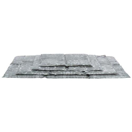 Лежак-подстилка, мягкий, охлаждающий, XXL: 110 х 70 см, серый