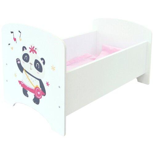 PAREMO Кроватка Мимими Крошка Ло (PFD120-93) белый/розовый