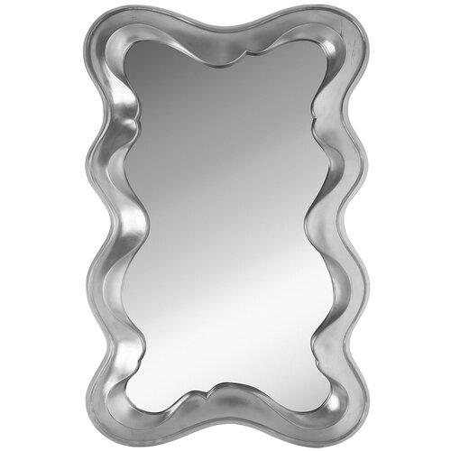 Зеркало настенное PATTERHOME ВЕНЕЦИЯ СЕРЕБРО, 79см х 123см, арт-деко, в прихожую, серебро белые пуфики в прихожую