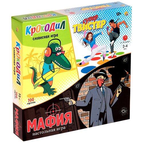 Купить Набор настольных игр Рыжий кот Супер-твистер + крокодил + мафия ИР-5474, Настольные игры