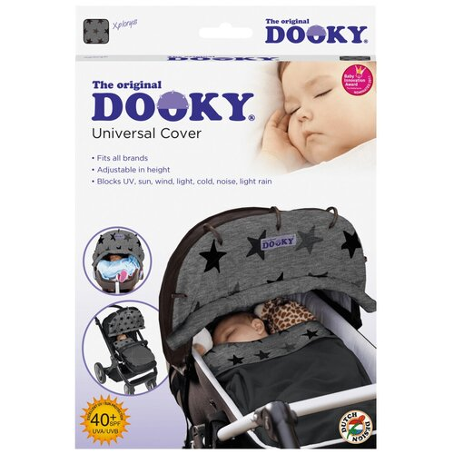 DOOKY накидка на коляску и автокресло grey stars подушка для переноски автокресла dooky arm cushion grey stars