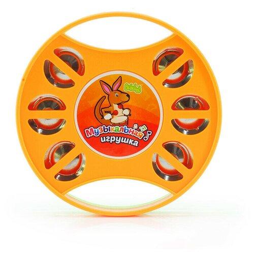 Купить Bebelot бубен BBA0903-007 оранжевый/зеленый, Детские музыкальные инструменты