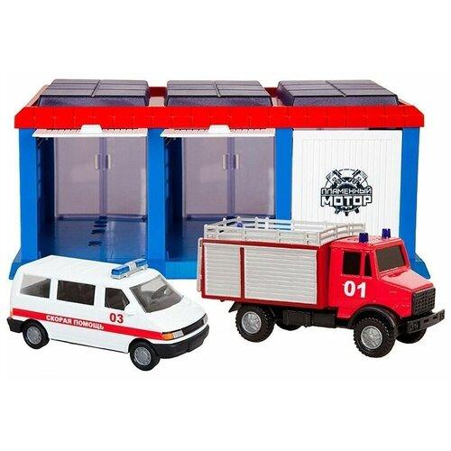 Фото - Пламенный мотор Служба спасения 870274, голубой/красный/белый эвакуатор пламенный мотор 870364 13 см белый