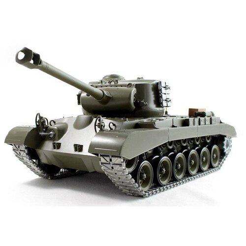 Танк Heng Long M26 Pershing Snow Leopard (3838-1PRO) 1:16 50 см зеленый танк heng long dak pzkpfw iv ausf f 1 3858 1pro 1 16 40 3 см бежевый