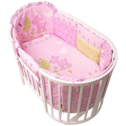 Фото - Комплект Золотой Гусь Полянка розовый сумка прикроватная золотой гусь пеленки трехслойная арт 3002