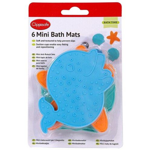 Мини-коврики Clippasafe против скольжения для ванной