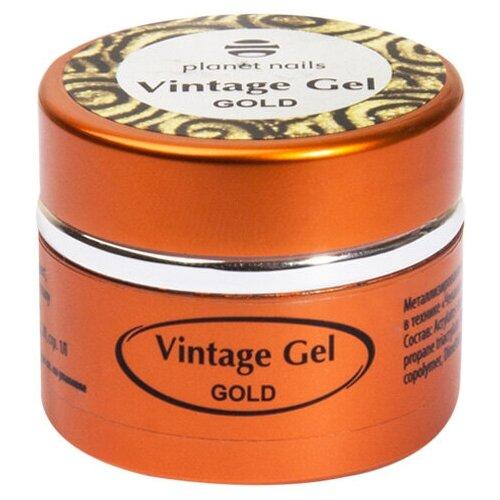 Фото - Паста гелевая planet nails Vintage Gel для чеканки gold planet nails кисть гелевая овальная из синтетического волоса 6 оранжевый