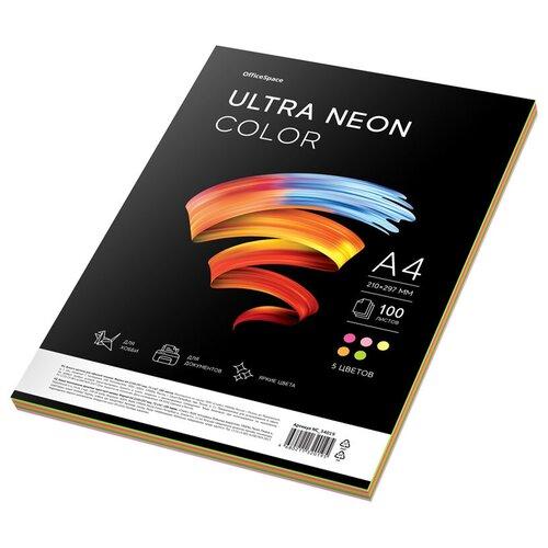 Фото - Бумага OfficeSpace A4 Ultra Neon Color 75 г/м² 100 лист., разноцветный бумага officespace а4 neon 80 г м² 100 лист