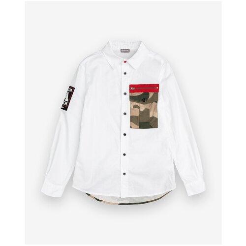 Рубашка Gulliver размер 146, белый