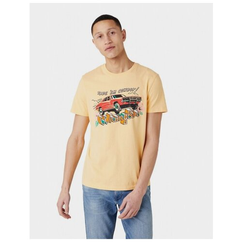 футболка wrangler wrangler wr224emapfw0 Футболка Wrangler W7AVGFA11 размер XL, желтый