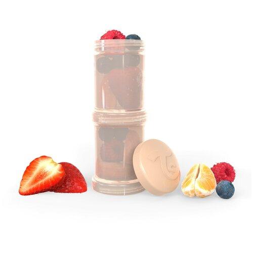 Фото - Контейнер для сухой смеси Twistshake, цвет: пастельный бежевый (Pastel Beige), 100 мл, 2 штуки контейнеры twistshake многоразовые пакеты для детского питания 100 мл 3 шт