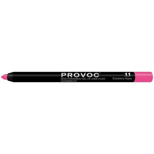 Provoc гелевая подводка в карандаше для губ Semi-Permanent Gel Lip Liner 11 strawberry kisses недорого