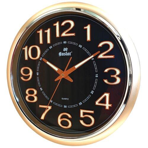 Фото - Часы настенные круглые говорящие со светонакопителем Gastar 831 YG B тёмный циферблат диаметр 34 см часы настенные кварцевые бесшумные со светонакопителем gastar 845 yg b тёмный циферблат размер 33 3х29 5 см
