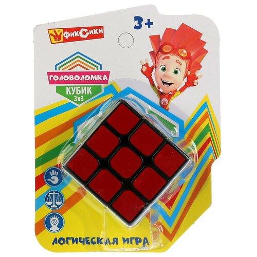 Головоломка Играем вместе Фиксики. Кубик 3х3 (ZY835395-R) разноцветный головоломка играем вместе фиксики