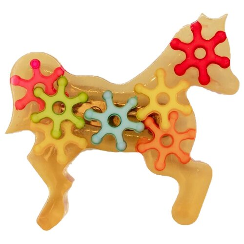 OTOKODESIGN Значок Лошадь с шестеренками 51909