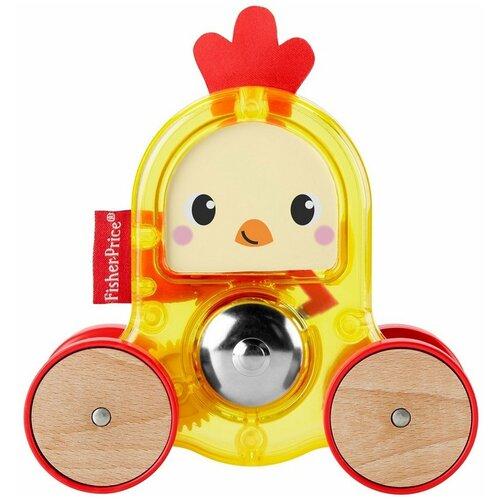 Фото - Развивающая игрушка Fisher-Price Петушок с сюрпризом (GMB25), желтый/красный развивающая игрушка fisher price веселые ритмы бибо бибель fcw42