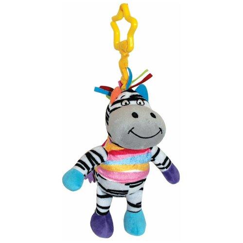 Купить Подвесная игрушка Happy Snail Зебра Фру-Фру (14HS010PZ) белый/голубой/желтый, Подвески