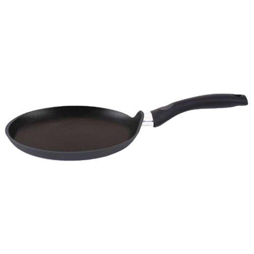 Сковорода блинная Kukmara Традиция сб222а, 22 см, черный сковорода d 24 см kukmara кофейный мрамор смки240а