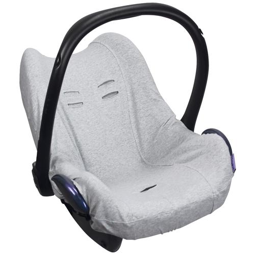DOOKY Чехол в автокресло Seat cover 0+ Melange 126810 / 126811 grey melange подушка для переноски автокресла dooky arm cushion grey stars