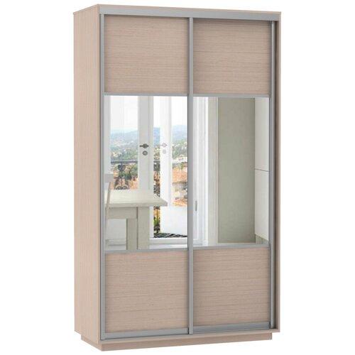 Шкаф-купе для одежды Е1 Экспресс Комби Дуо, (ШхГхВ): 140х60х220 см, дуб молочный шкафы купе для одежды
