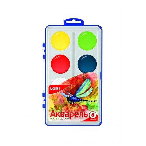 Купить LORI Акварельные краски 8 цветов без кисти (Акв-002), Краски