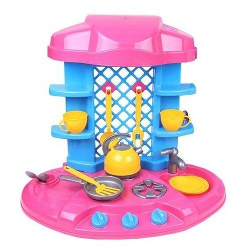 Купить Кухня ТехноК 61 066 розовый/голубой/желтый, Детские кухни и бытовая техника