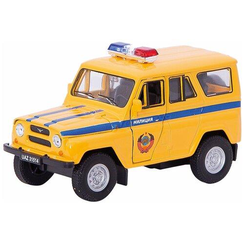 Внедорожник Welly УАЗ 31514 Милиция (42380RT), желтый