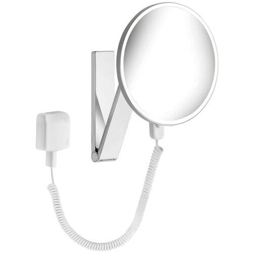 зеркало косметическое настенное keuco bella vista 17605019000 с подсветкой Зеркало косметическое настенное KEUCO iLook_ move (17612019001) с подсветкой хром