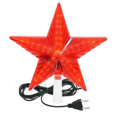 Наконечник на елку Vegas Звезда (55086), красный
