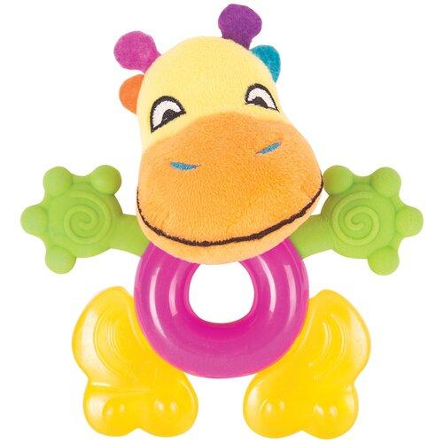 Купить Прорезыватель-погремушка Happy Snail Спот желтый/розовый/зеленый, Погремушки и прорезыватели