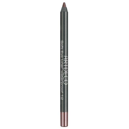 ARTDECO Водостойкий карандаш для век Soft Eye Liner Waterproof, оттенок 12 - warm dark brown
