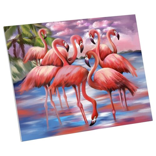 Фото - Картина по номерам Школа талантов Фламинго 40x50cm 5248137 картина по номерам школа талантов мона лиза леонардо да винчи 40x50cm 5135000